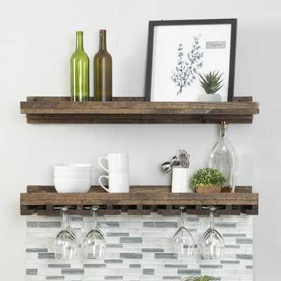 Bernon Solid Wood Wall Mounted Wine Glass Rack - Birch Lane