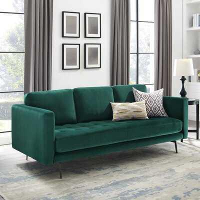 """Tamaha 81"""" Velvet Square Arm Sofa - Wayfair"""