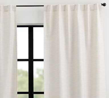"Sunbrella(R) Bungalow Striped Outdoor Curtain, 50 x 96"",Flax Stripe - Pottery Barn"