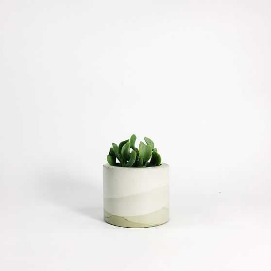 SETTLEWELL Concrete Vase, Sage Multi - West Elm