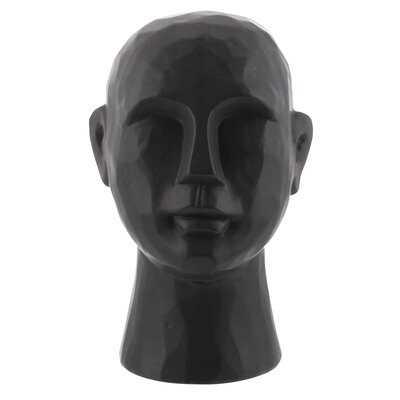 "11"" Matte White Ceramic Bust Decorative Sculpture - Wayfair"