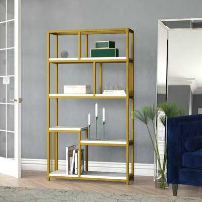 Hanrahan 71.87'' H x 39.37'' W Steel Etagere Bookcase - Wayfair