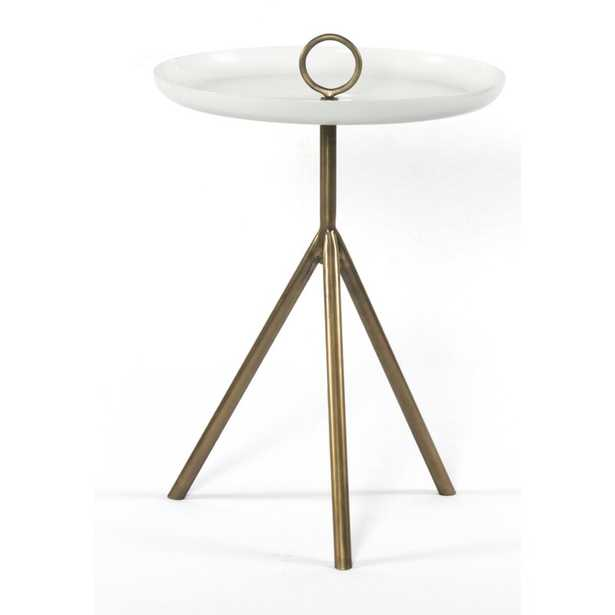 Four Hands Nolan End Table Table Base Color: Antique Brass - Perigold