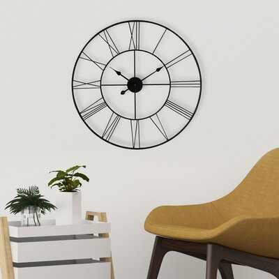 Melendez Wall Clock, Small - Wayfair