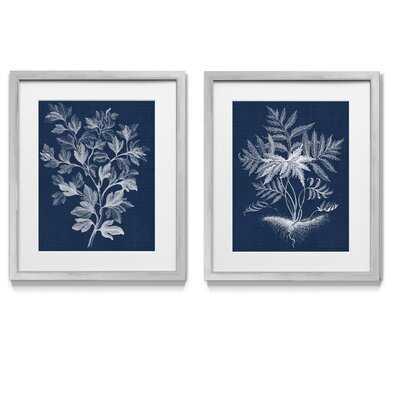 Lustr Foliage Chintz I - 2 Piece Picture Frame Graphic Art Print Set on Paper - Wayfair