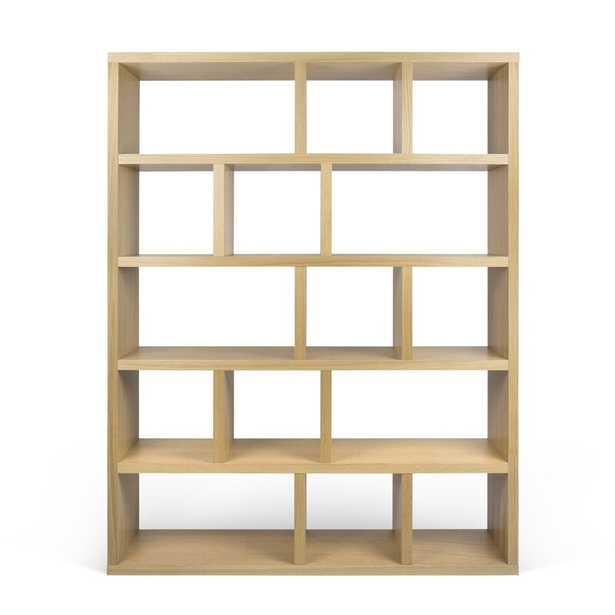 Berlin 5 Level Geometric Bookcase Finish: Oak - Perigold