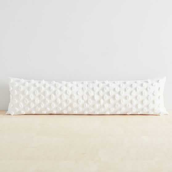 """Candlewick Pillow Cover, 12""""x46"""", Stone White - West Elm"""