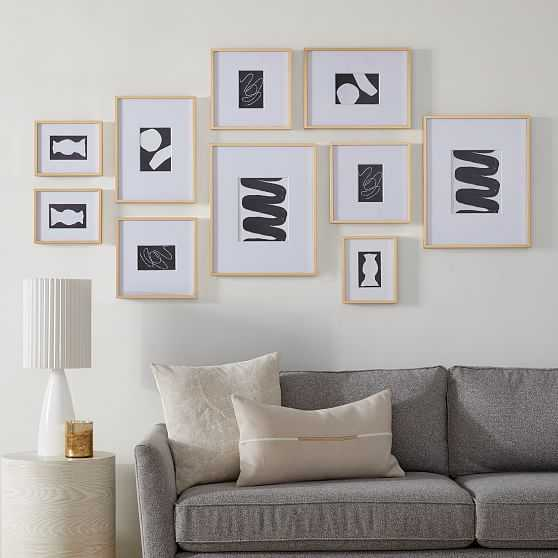 Eclectic Set of 10, Polished Brass - West Elm