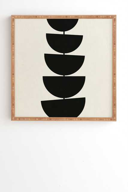 "Stem by Rose Beck - Framed Wall Art Bamboo 20"" x 20"" - Wander Print Co."