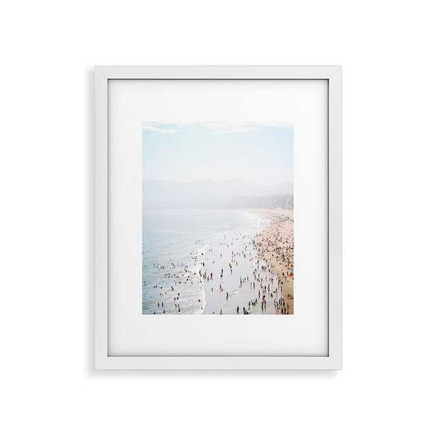 """La Summer by Bree Madden, Modern Framed Art Print, White,24"""" x 36"""" - Cove Goods"""