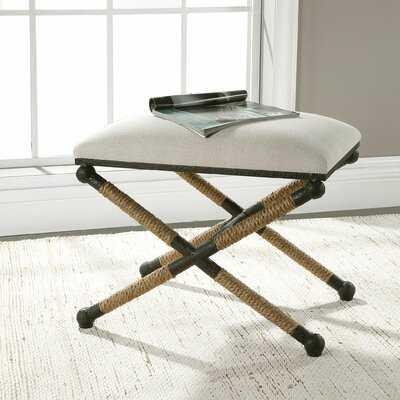 Brunon Metal Upholstered Vanity Stool - Wayfair