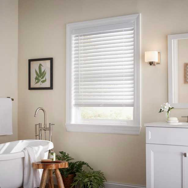 Home Decorators Collection White Cordless 2 in. Faux Wood Blind - 36 in. W x 72 in. L (Actual Size 35.5 in. W x 72 in. L) - Home Depot