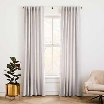"""Cotton Velvet Curtain Frost Gray 48""""x96"""" - West Elm"""