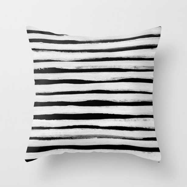 """Black And White Stripes Ii Couch Throw Pillow by Georgiana Paraschiv - Cover (20"""" x 20"""") with pillow insert - Outdoor Pillow - Society6"""