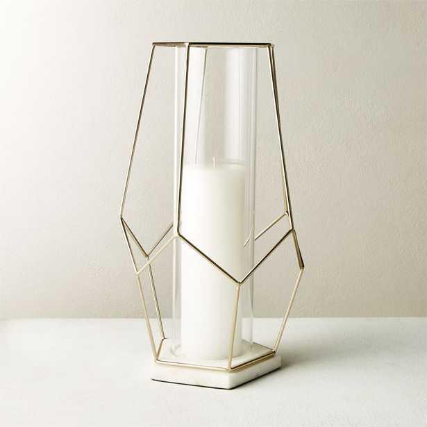 Pria Champagne Marble Geometric Hurricane - CB2