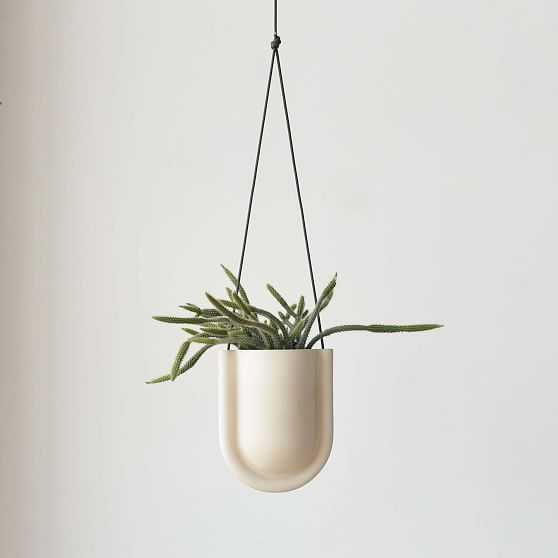 Misewell Portico Hanging Planter, White - West Elm