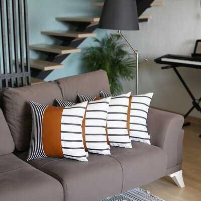Abigaile Square Faux Leather Pillow Cover - Wayfair