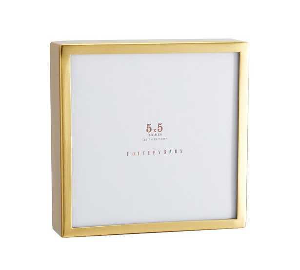 "Hagen Picture Frame, Brass, 5"" x 5"" - Pottery Barn"