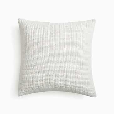 """Two Tone Chunky Linen Pillow Cover, 20""""x20"""", White - West Elm"""