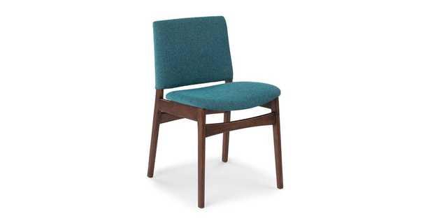 Nosh Andaman Blue Walnut Dining Chair - Article