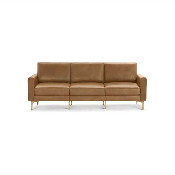 The Block Nomad Leather Sofa in Camel - Burrow