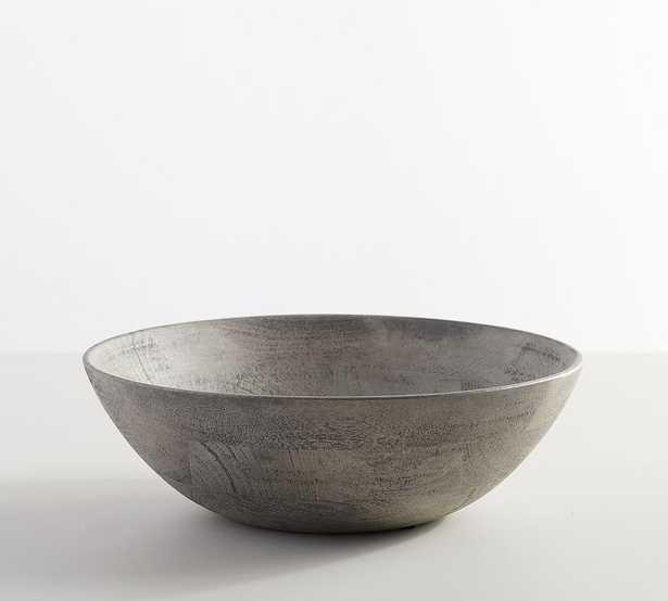 """Chateau Acacia Wood Salad Bowl, Large 14"""" - Gray - Pottery Barn"""