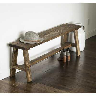 Ari Solid Wood Bench - Wayfair