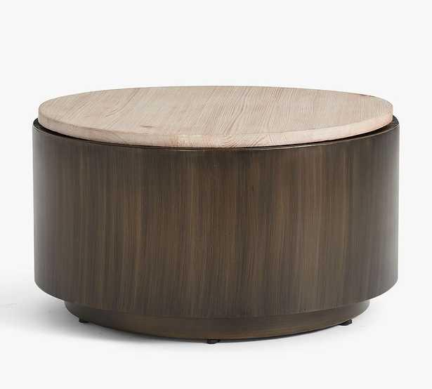 "Gilman Round Storage Coffee Table, Desert Pine, 30""L - Pottery Barn"