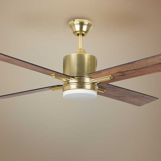 """52"""" Craftmade Teana Satin Brass LED Ceiling Fan - Style # 81M28 - Lamps Plus"""