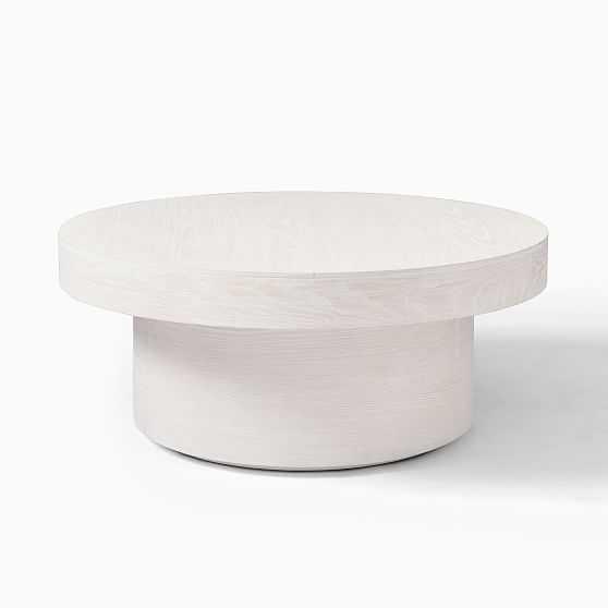 Round Pedestal Coffee Table, Winterwood - West Elm