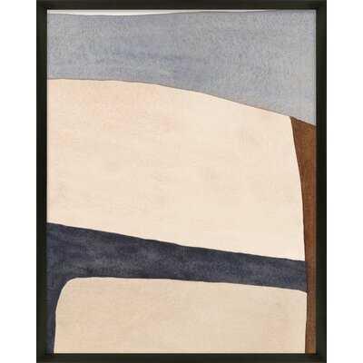 Divided By Blue 1 By Julia Balfour - Framed Wall Art - AllModern