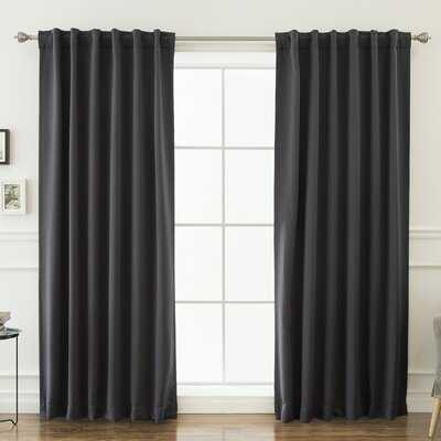Billups Solid Blackout Thermal Rod Pocket Double Curtains - Birch Lane
