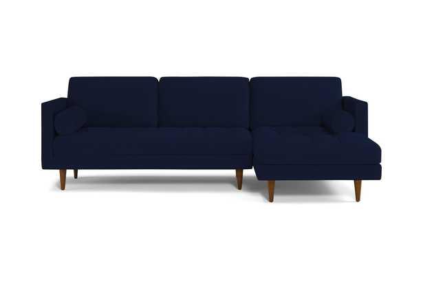 Blue Briar Mid Century Modern Sectional - Royale Cobalt - Mocha - Right - Joybird