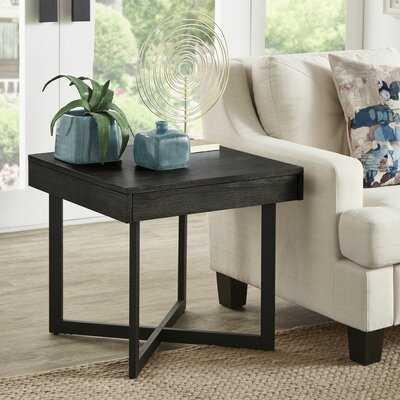 Swinton Cross Legs End Table with Storage - Wayfair