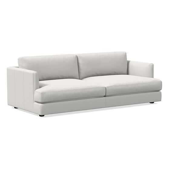 """Haven 84"""" Sofa, Sierra Leather, Snow, Concealed Support - West Elm"""