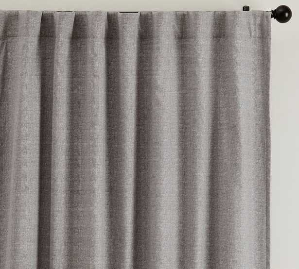 "Broadway Rod Pocket Blackout Curtain, Set of 2, 50 x 84"", Gray - Pottery Barn"