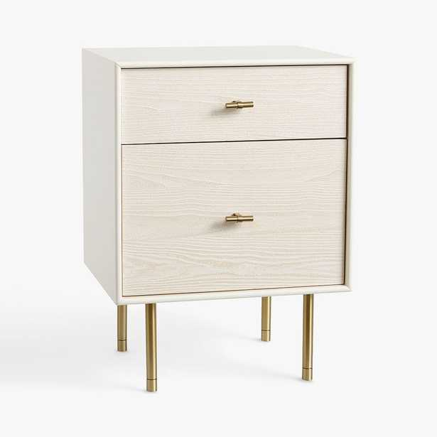 west elm x pbt Modernist Nightstand, White/Wintered Wood, In-Home - Pottery Barn Teen