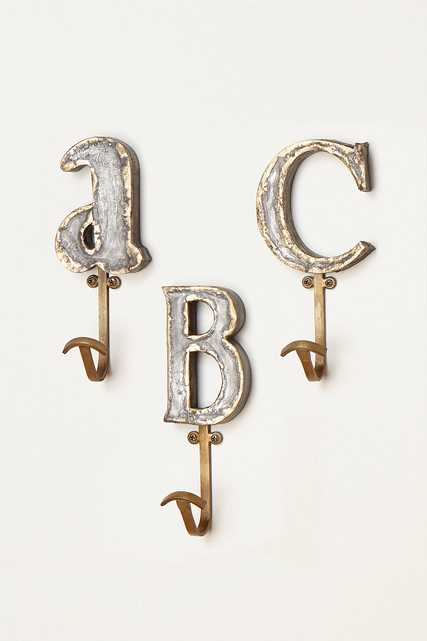 Marquee Letter Hook - Anthropologie