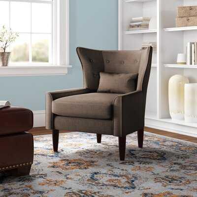"""Millett 31.5"""" Wide Tufted Linen Wingback Chair - Wayfair"""