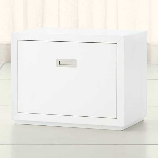 """Aspect White 23.75"""" Modular Low File Cabinet - Crate and Barrel"""