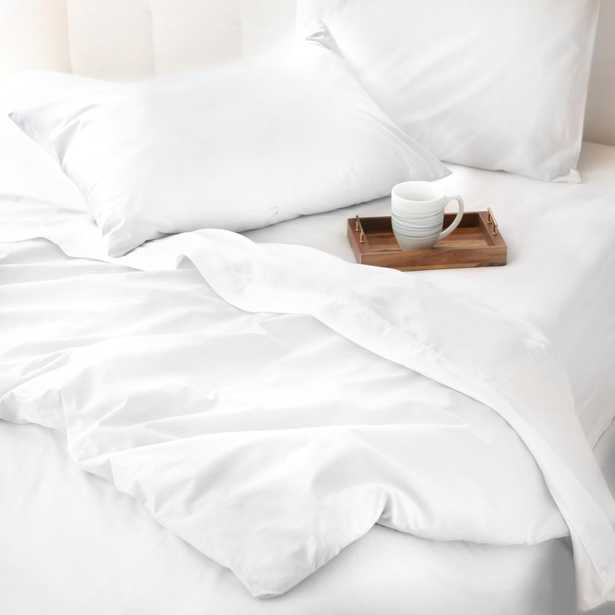 The Cozy Cotton White Full/Queen Duvet Set by WELHOME - Home Depot