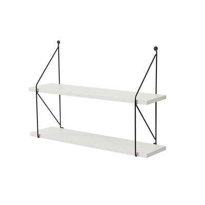 Zeigler Metal Wood Floating Shelf - Wayfair