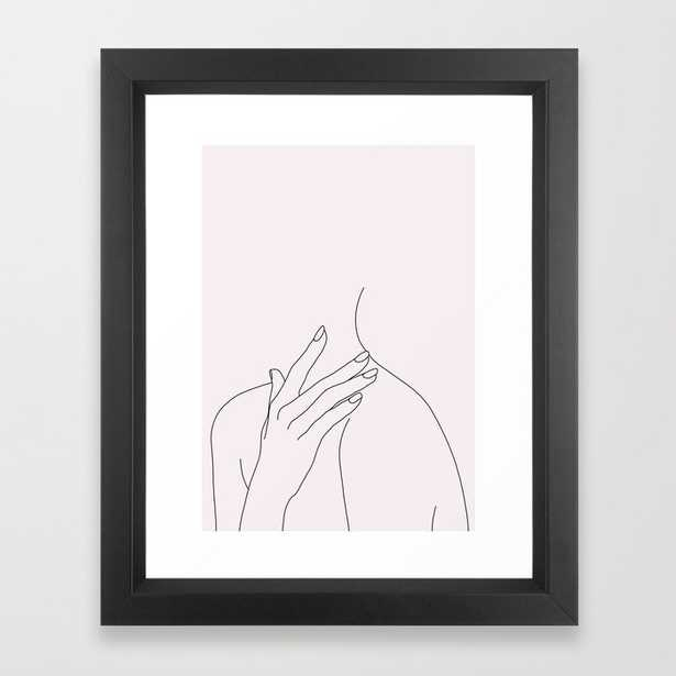 Figure Line Drawing Illustration - Danna Natural Framed Art Print by The Colour Study - Vector Black - X-Small-10x12 - Society6