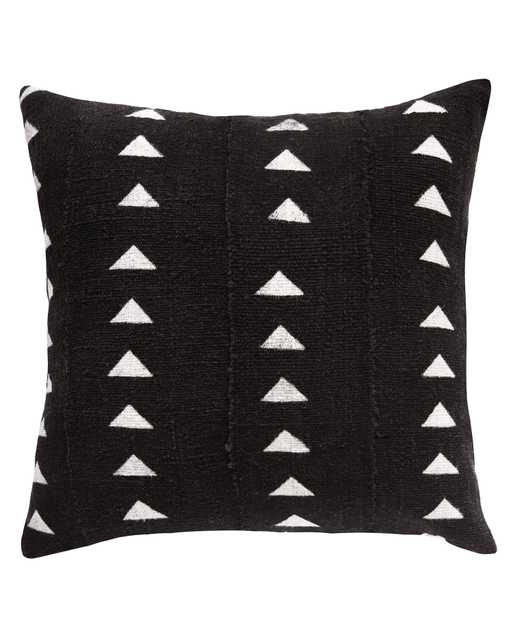 triangle mud cloth pillow in black - with insert - PillowPia