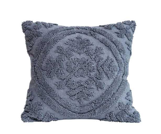 Square Cotton Chenille Pillow - Roam Common