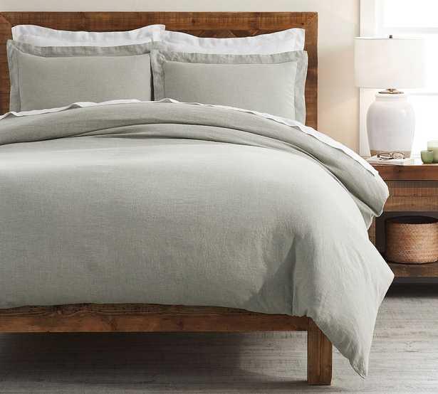 Eucalyptus Belgian Flax Linen Duvet Cover, Full/Queen - Pottery Barn