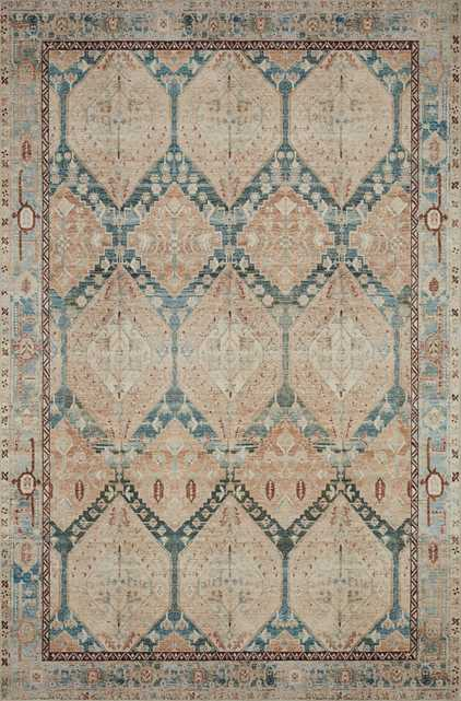 """Lenna Rug, 7'6"""" x 9'6"""", Denim & Sand - Magnolia Home by Joana Gaines Crafted by Loloi Rugs"""