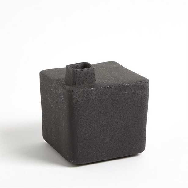 "Studio A Home Ceramic Table Vase Color: Black, Size: 6.25"" H x 5.75"" W x 5.5"" D - Perigold"