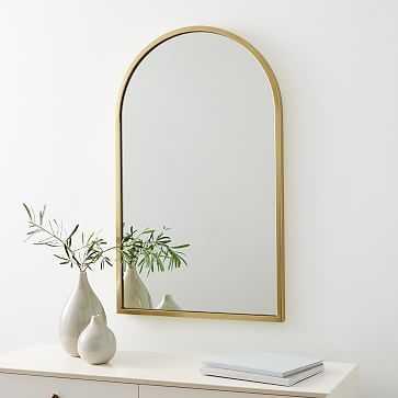 New Shape Metal Mirror, Brass - West Elm