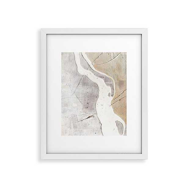 """Feels by Alyssa Hamilton Art - Modern Framed Art Print White 24"""" x 36"""" - Cove Goods"""